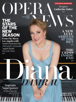 Cover of the September 2015 OPERA NEWS (Met Opera Guild)