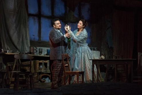 Rodolfo (Ramon Vargas) & Mimi (Barbara Frittoli) in Act I of La Boheme