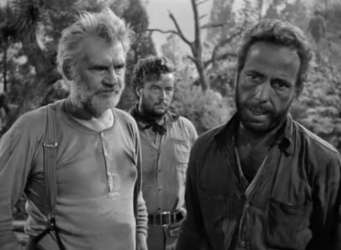 Walter Huston, Tim Holt & Bogie in The Treasure of the Sierra Madre