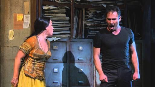 Damrau (Leila) with Mariusz Kwiecien (Zurga) in Act III