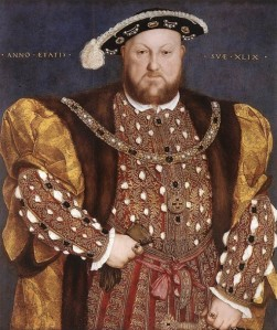 Hans Holbein portrait of Henry VIII