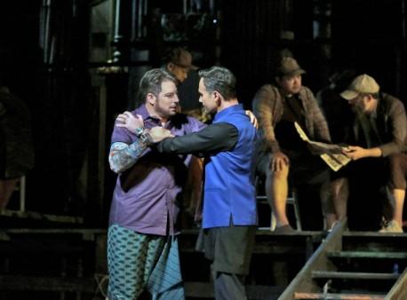 "Matthew Polenzani (Nadir) & Mariusz Kwiecien (Zurga), in ""Au fond du temple encore"""