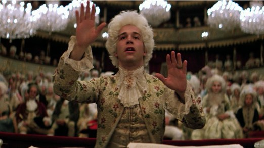 Tom Hulce as Mozart in the movie Amadeus (1984)