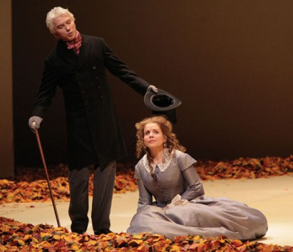Dmitri Hvorostovsky (Onegin) & Renee Fleming (Tatyana) in Robert Carsen's Eugene Onegin production (Met Opera)