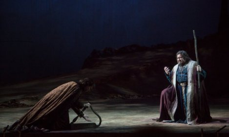 The Rome Narrative: Peter Mattei as Wolfram (left) & Johan Botha (right) as Tannhäuser (Met Opera)