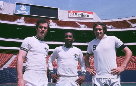Beckenbauer, Pele & Giorgio Chinaglia of the New York Cosmos ca. 1977