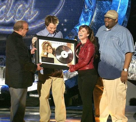 Clive Davis, Clay Aiken, Kelly Clarkson & Ruben Studdard of American idol
