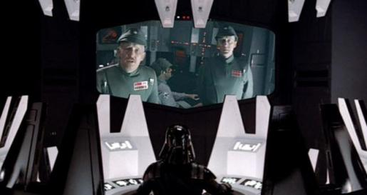 Admiral Ozzel & Captain Piett have a face-to-face with Lord Vader