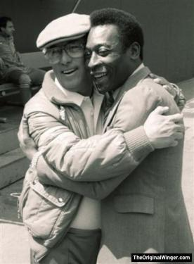 Professor with Pele