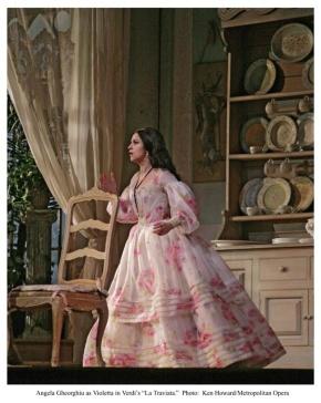 Angela Gheorghiu as Violetta in La Traviata (Photo: Ken Howard/Met Opera)