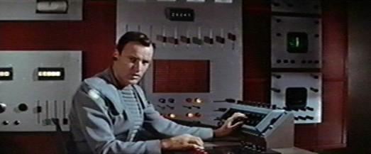 Chief Quinn (Richard Anderson) tracks Morbius' message