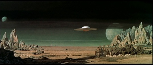 United Planets Space Cruise C-57D, approaching the Forbidden Planet