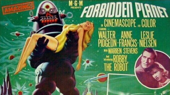 Lobby Card: Robot the Robot carrying Alta