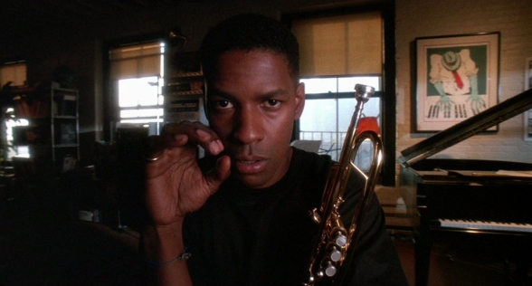 Bleek (Denzel Washington) practicing his scales in Mo' Better Blues