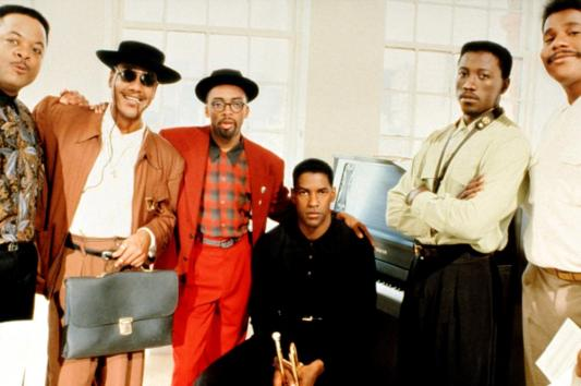 The Bleek Quintet: Jeff Watts, Giancarlo Esposito, Spike Lee, Denzel, Wesley Snipes & Bill Nunn