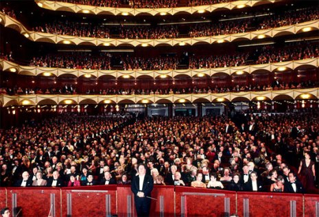 Inside the Met Opera auditorium