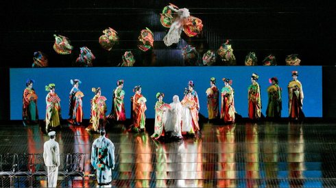 The Wedding Party scene, Act I of Madama Butterfly (Met Opera Photo)