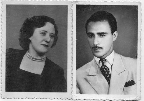 Mom & Dad as they looked around the time of their marriage