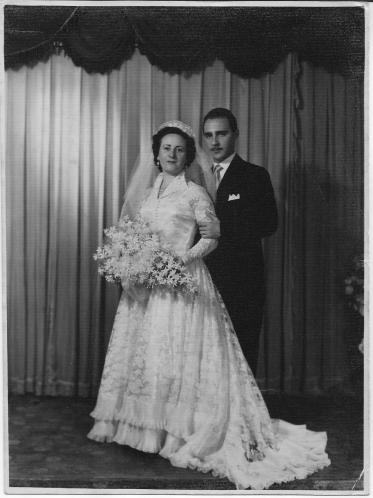 My parents' wedding photograph (September 1953)