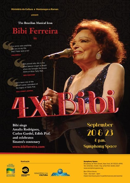 "Advertisement in Time Out Magazine for ""4X Bibi"""