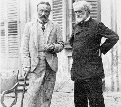 Arrigo Boito & Verdi (Photo: Achille Ferrario, Gazzetta di Parma, 1892)