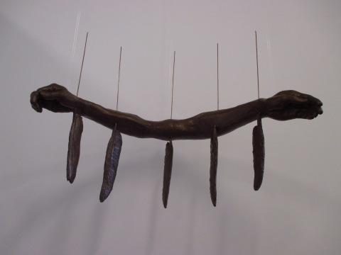 Winged, 1999, Bonded bronze and metal, Courtesy of the Michael Richards Estate