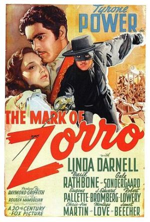 Promo ad for The Mark of Zorro (20th Century-Fox, 1940)