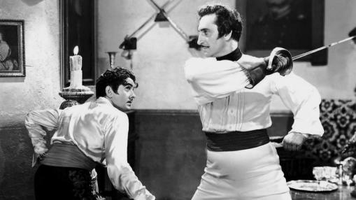 Don Diego (Tyrone Power) fights a duel to the death with Captain Esteban (Basil Rathbone) in The Mark of Zorro (Photo: film.thedigitalfix.com)