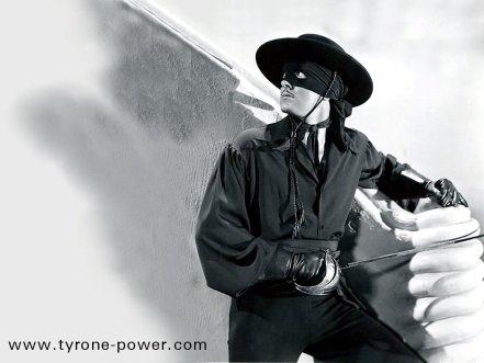 Publicity Shot of Tyrone Power as Zorro (www.tyrone-power.com)