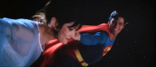 Lois & Superman in the Flying Sequence