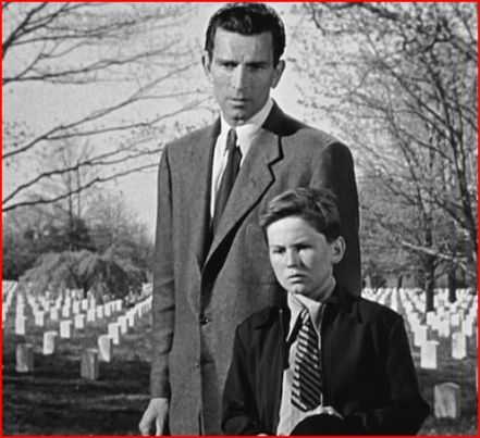 Mr. Carpenter (Rennie) & Bobby (Billy Gray) at Arlington National Cemetery