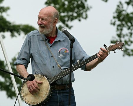 Pete Seeger (1919-2014) in his later years -- the Grand Ole Man of Folk Music