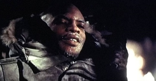 Keith David as Childs in the final scene of The Thing (1982)