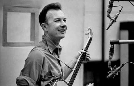 A young Pete Seeger in the 1940s