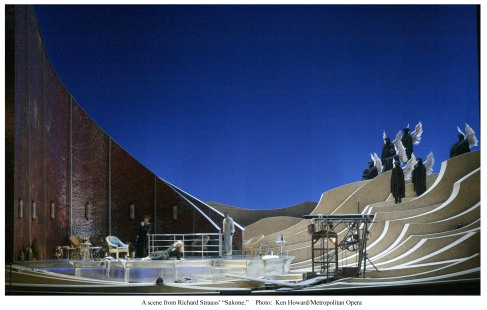 Setting for Met Opera Salome, with sets by Santo Loquasto (Photo: Marty Sohl / Met Opera)