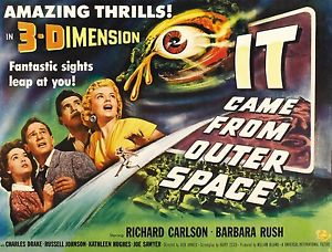 Poster art for It Came from Outer Space, in 3-D