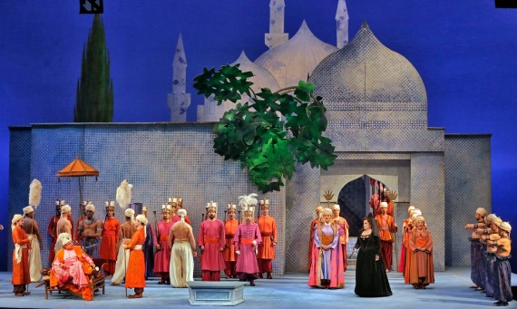 John Dexter's set for Mozart's The Abduction from the Seraglio (Met Opera)
